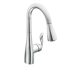 Arbor One-Handle High Arc Pulldown Kitchen Faucet - Chrome - 7594