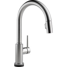 1 Lever Handle TRINSIC Pull-Down Kitchen Faucet Arctic Stainless With Touch2O Technology