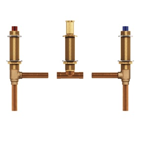 "Two Handle Roman Tub Valve Adjustable 1/2"" Cc Connection Unrestricted"