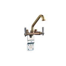 4-Way Laundry Faucet for Exposed Mounting, Rough brass