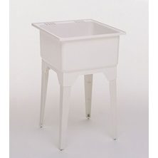 101684 White Laundry Tray With Legs