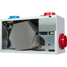 "Heat Recovery Ventilator 132 CFM High Efficiency Hex Core 6"" Top Ports 3 Speed - Recirculating Defrost - Control Not Included"