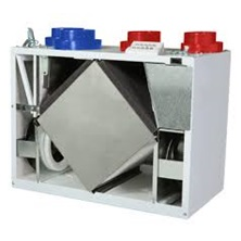 "Heat Recovery Ventilator 125 CFM Aluminum Core 5"" Top Ports 3 Speed - Recirculating Defrost - Control Not Included"