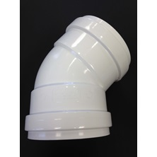 "5"" (125mm) GxG DR28-35 PVC 45 Degree Elbow BDS"