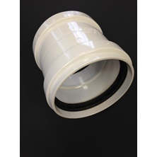 "6"" (150mm) GxG DR35 PVC Coupling With Stop"