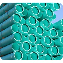 "Pvc Pipe, 6"" X 13' Dr35 Green Ring-Tite"