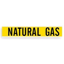 "1"" Yellow ""Natural Gas"" Pipe Marker"