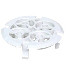 321843W White PVC Snap-in Grate